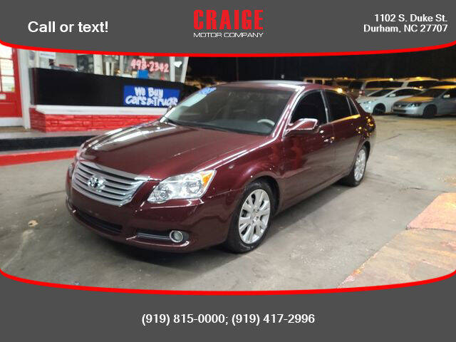 2008 Toyota Avalon for sale at CRAIGE MOTOR CO in Durham NC
