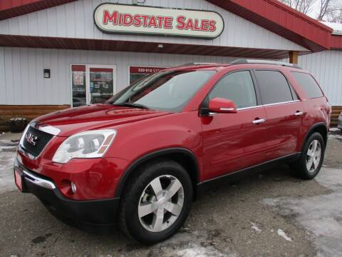 2012 GMC Acadia for sale at Midstate Sales in Foley MN