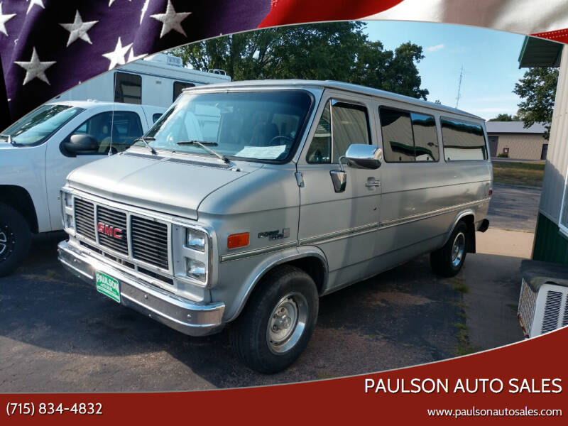 1985 GMC Rally Wagon for sale at Paulson Auto Sales in Chippewa Falls WI
