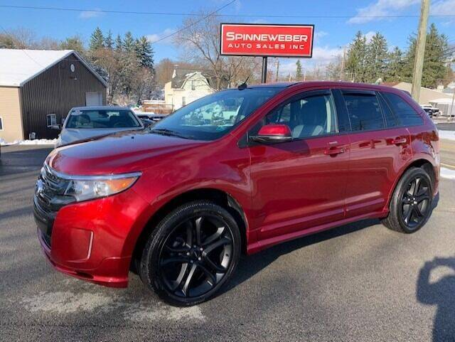 2014 Ford Edge for sale at SPINNEWEBER AUTO SALES INC in Butler PA