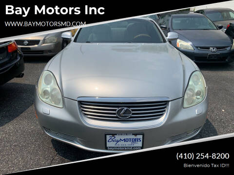 2003 Lexus SC 430 for sale at Bay Motors Inc in Baltimore MD