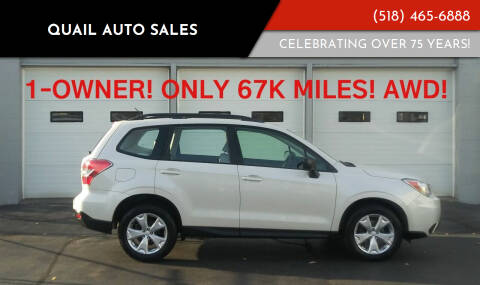 2015 Subaru Forester for sale at Quail Auto Sales in Albany NY