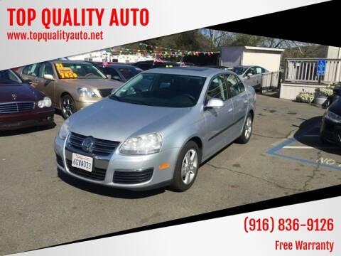 2009 Volkswagen Jetta for sale at TOP QUALITY AUTO in Rancho Cordova CA