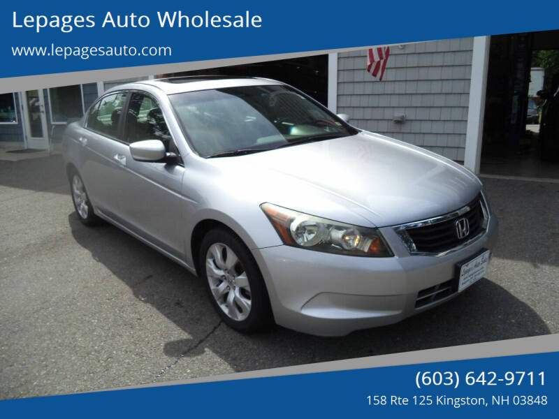 2009 Honda Accord for sale at Lepages Auto Wholesale in Kingston NH