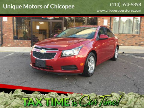 2014 Chevrolet Cruze for sale at Unique Motors of Chicopee in Chicopee MA