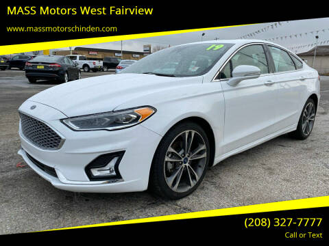 2019 Ford Fusion for sale at MASS Motors West Fairview in Boise ID