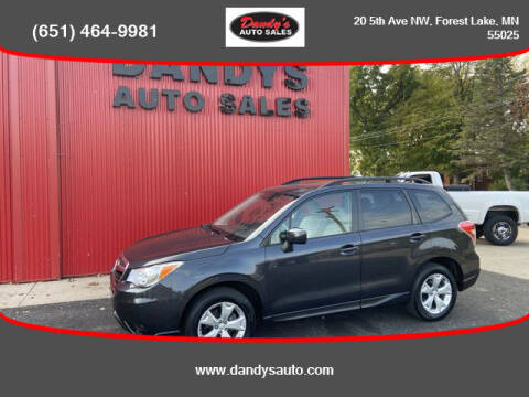 2015 Subaru Forester for sale at Dandy's Auto Sales in Forest Lake MN