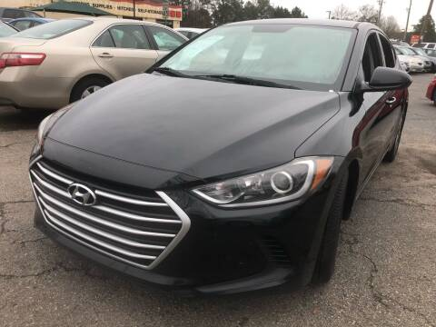 2017 Hyundai Elantra for sale at Atlantic Auto Sales in Garner NC