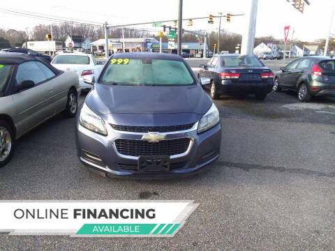 2014 Chevrolet Malibu for sale at Marino's Auto Sales in Laurel DE