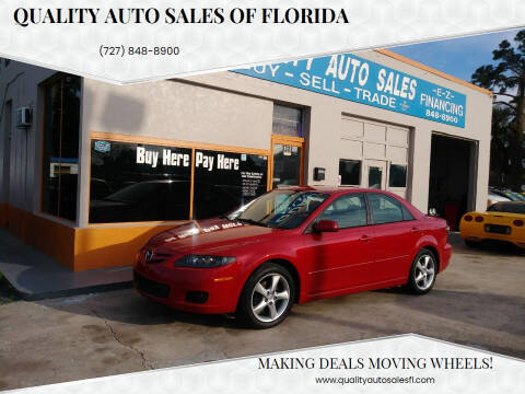 2007 Mazda MAZDA6 for sale at QUALITY AUTO SALES OF FLORIDA in New Port Richey FL