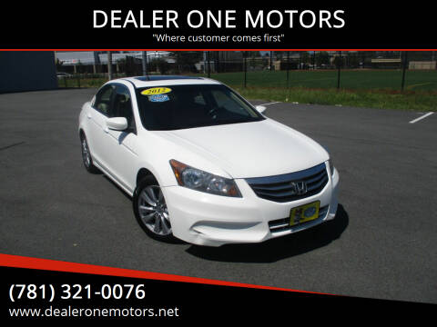 2012 Honda Accord for sale at DEALER ONE MOTORS in Malden MA