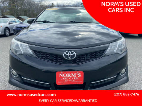 2013 Toyota Camry for sale at NORM'S USED CARS INC in Wiscasset ME