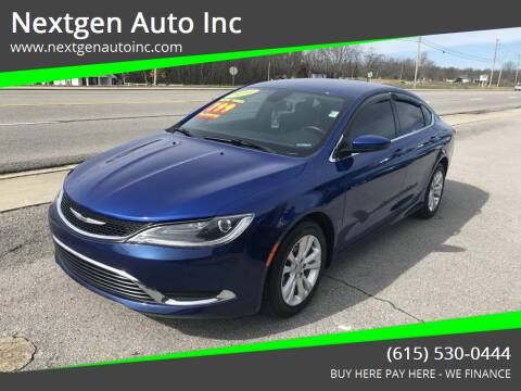 2016 Chrysler 200 for sale at Nextgen Auto Inc in Smithville TN