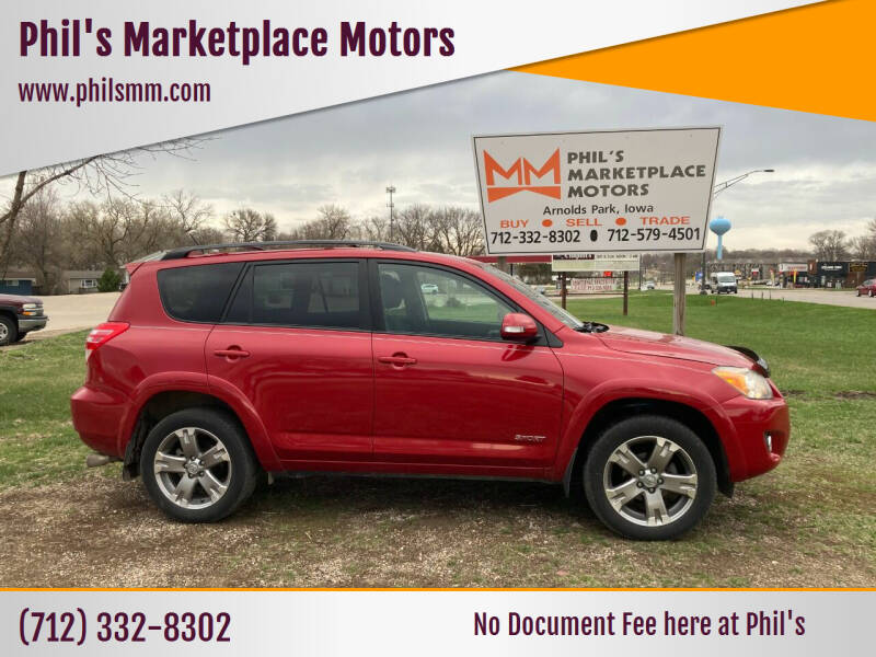 2011 Toyota RAV4 for sale at Phil's Marketplace Motors in Arnolds Park IA