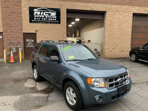 2012 Ford Escape for sale at Ric's Auto Sales in Billerica MA