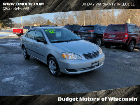 2006 Toyota Corolla for sale at Budget Motors of Wisconsin in Racine WI