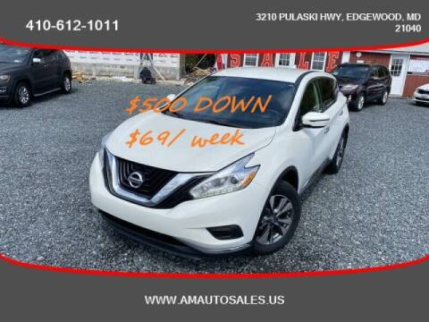 2017 Nissan Murano for sale at A&M Auto Sales in Edgewood MD