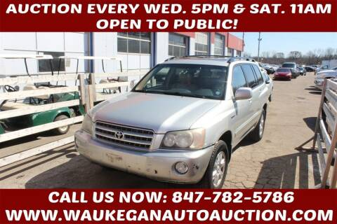 2003 Toyota Highlander for sale at Waukegan Auto Auction in Waukegan IL