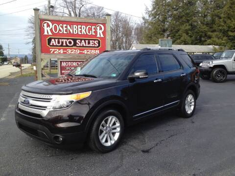 2013 Ford Explorer for sale at Rosenberger Auto Sales LLC in Markleysburg PA