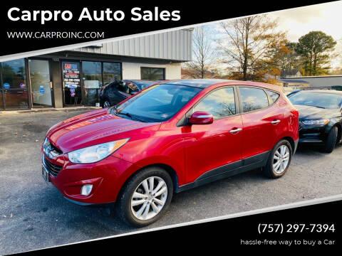 2013 Hyundai Tucson for sale at Carpro Auto Sales in Chesapeake VA