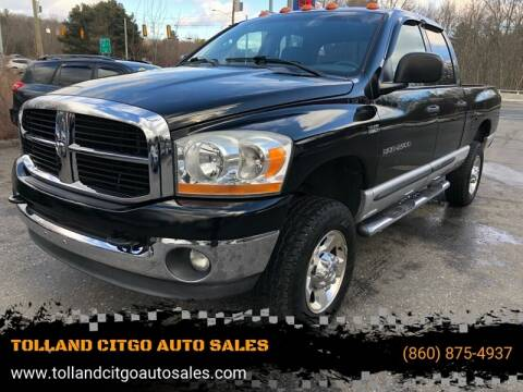 2006 Dodge Ram Pickup 2500 for sale at TOLLAND CITGO AUTO SALES in Tolland CT
