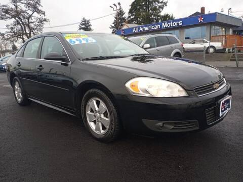 2010 Chevrolet Impala for sale at All American Motors in Tacoma WA