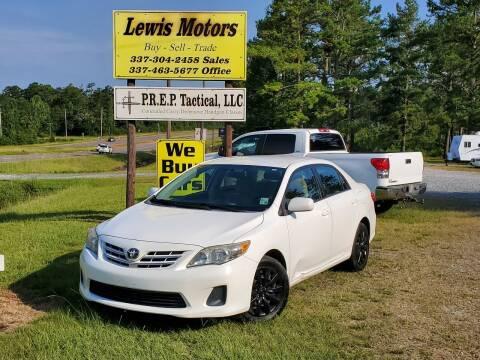 2013 Toyota Corolla for sale at Lewis Motors LLC in Deridder LA