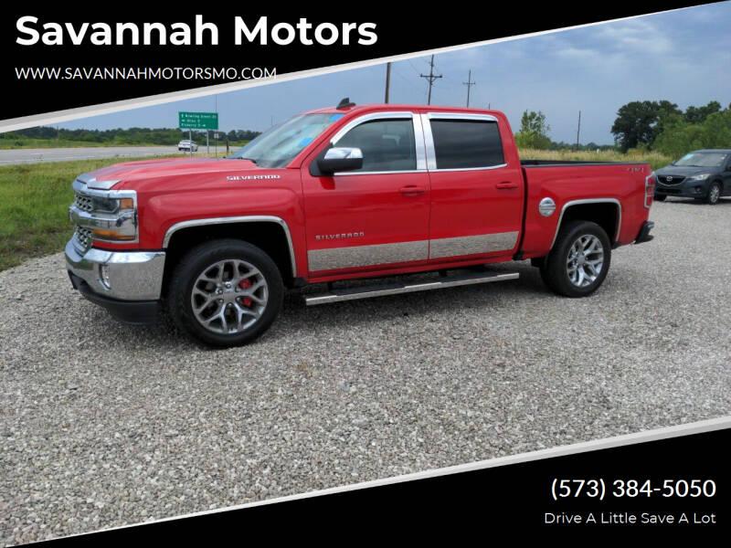 2018 Chevrolet Silverado 1500 for sale at Savannah Motors in Elsberry MO