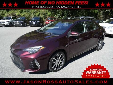 2017 Toyota Corolla for sale at Jason Ross Auto Sales in Burlington NC