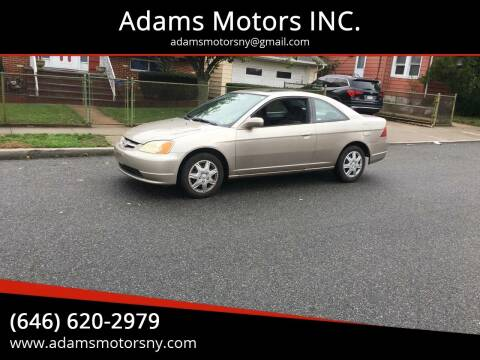 2002 Honda Civic for sale at Adams Motors INC. in Inwood NY