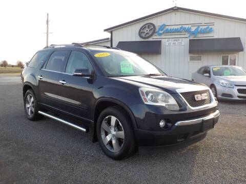 2012 GMC Acadia for sale at Country Auto in Huntsville OH