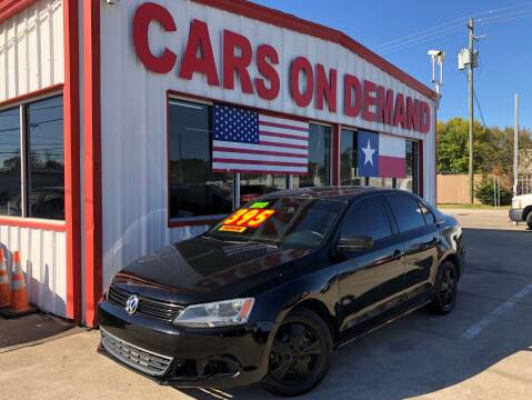 2013 Volkswagen Jetta for sale at Cars On Demand 3 in Pasadena TX