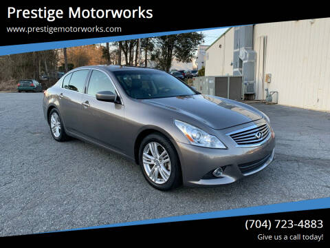 2013 Infiniti G37 Sedan for sale at Prestige Motorworks in Concord NC