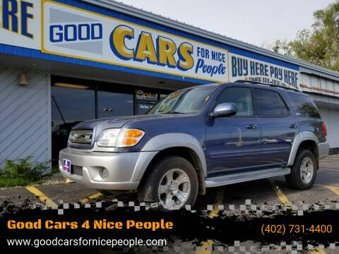 2001 Toyota Sequoia for sale at Good Cars 4 Nice People in Omaha NE