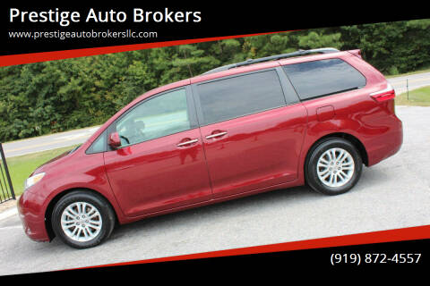 2015 Toyota Sienna for sale at Prestige Auto Brokers in Raleigh NC