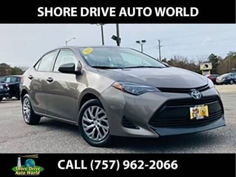 2019 Toyota Corolla for sale at Shore Drive Auto World in Virginia Beach VA