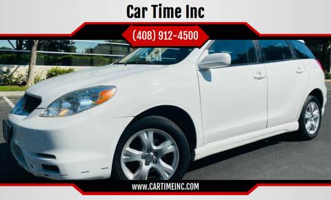 2003 Toyota Matrix for sale at Car Time Inc in San Jose CA