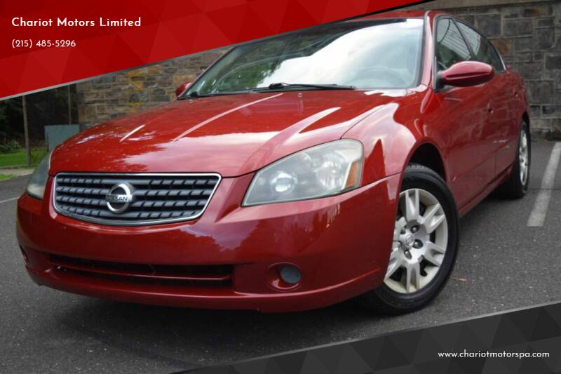 2005 Nissan Altima for sale at Chariot Motors Limited in Feasterville Trevose PA