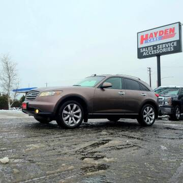 2004 Infiniti FX35 for sale at Hayden Cars in Coeur D Alene ID