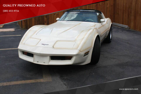 1980 Chevrolet Corvette for sale at QUALITY PREOWNED AUTO in Houston TX