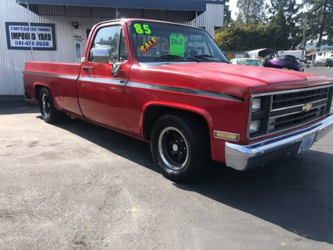 1985 Chevrolet C/K 10 Series for sale at 3 BOYS CLASSIC TOWING and Auto Sales in Grants Pass OR