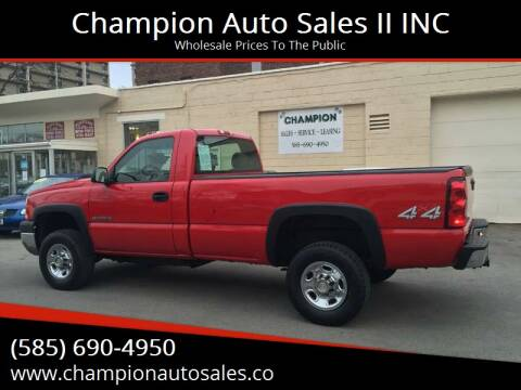 2006 Chevrolet Silverado 2500HD for sale at Champion Auto Sales II INC in Rochester NY