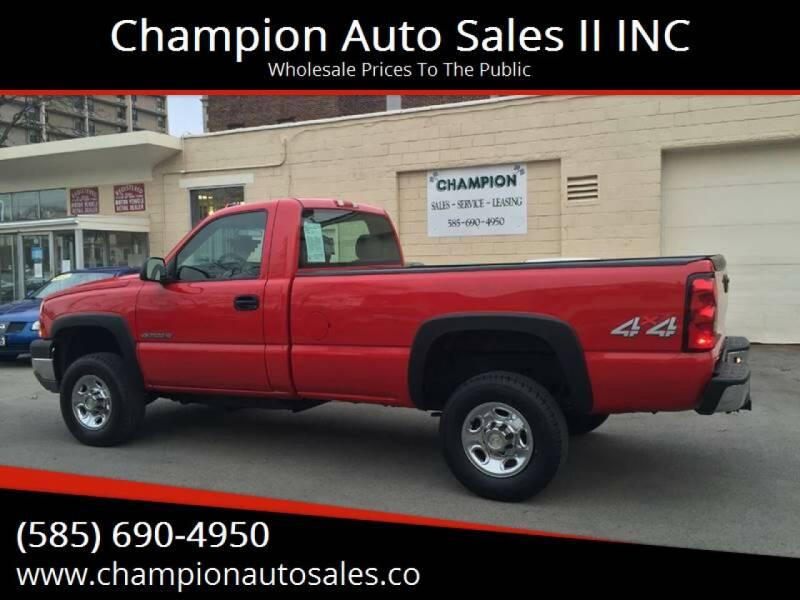 2006 Chevrolet Silverado 2500HD for sale at Champion Auto Sales II INC in Rochester NY