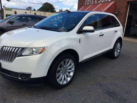 2012 Lincoln MKX for sale at Cote & Sons Automotive Ctr in Lawrence MA