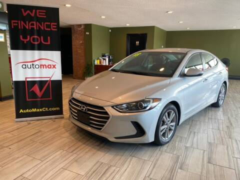 2018 Hyundai Elantra for sale at AutoMax in West Hartford CT