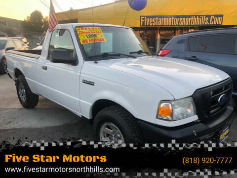 2011 Ford Ranger for sale at Five Star Motors in North Hills CA