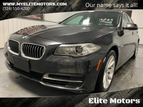 2014 BMW 5 Series for sale at Elite Motors in Uniontown PA