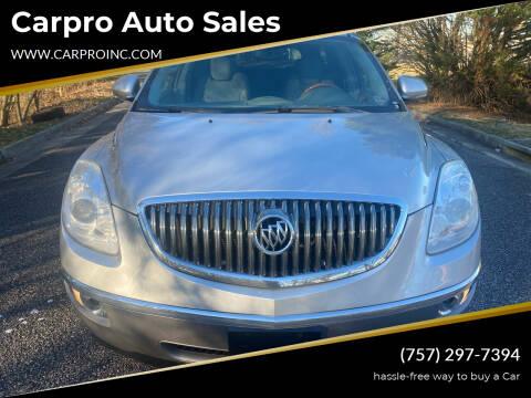 2009 Buick Enclave for sale at Carpro Auto Sales in Chesapeake VA