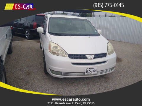 2004 Toyota Sienna for sale at Escar Auto in El Paso TX