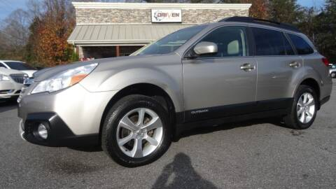 2014 Subaru Outback for sale at Driven Pre-Owned in Lenoir NC